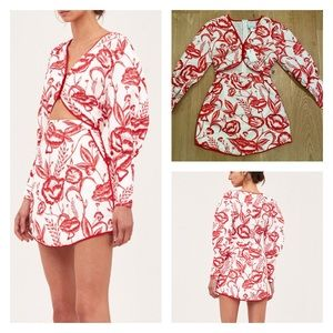 C/MEO Collective White Lie Long Sleeve Mini Dress